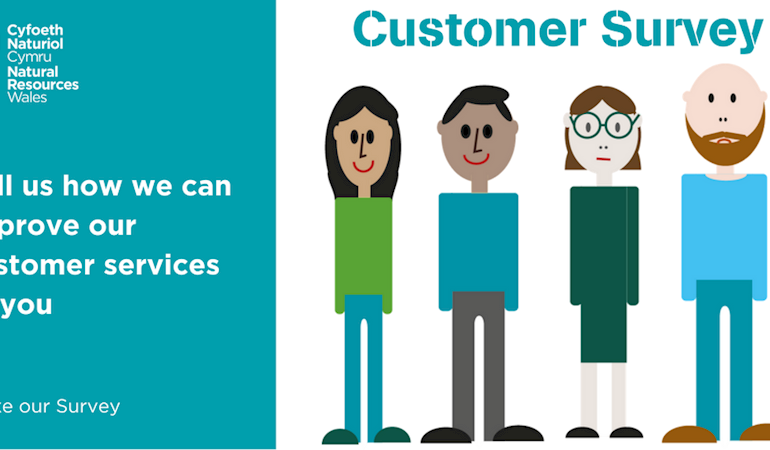 Customer Survey graphic - tell us how we can improve our customer services to you