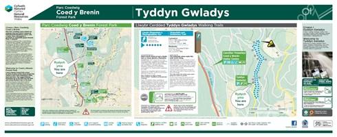 Tyddyn Gwladys welcome panel