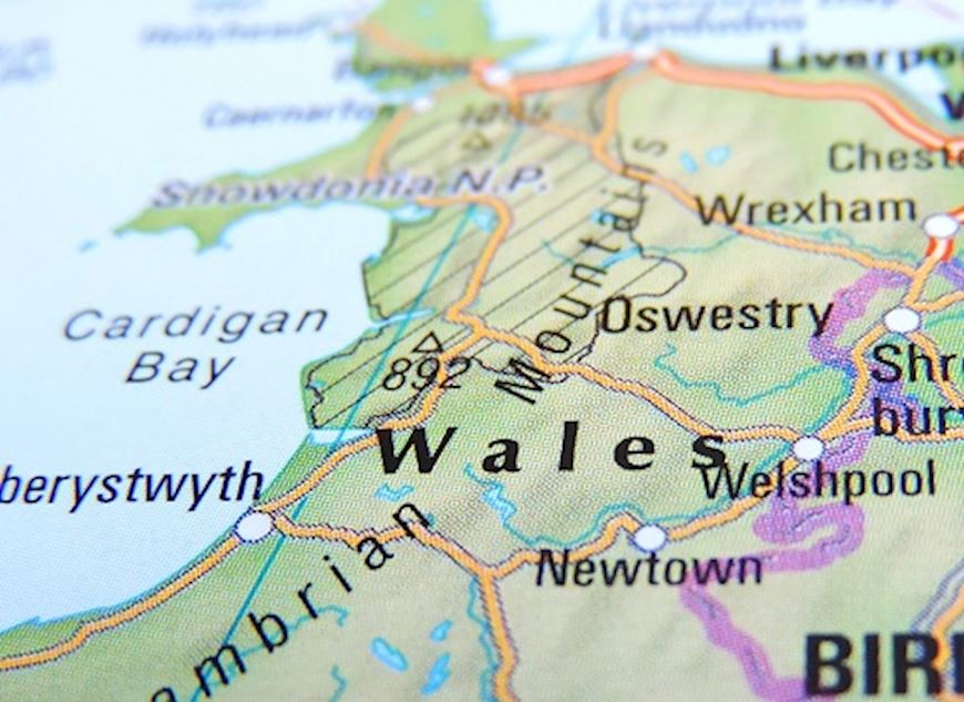partial view of Welsh map