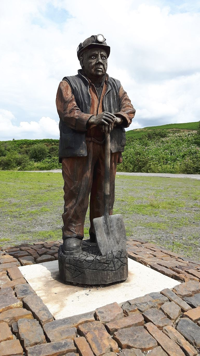 Statue of an Llynfi miner