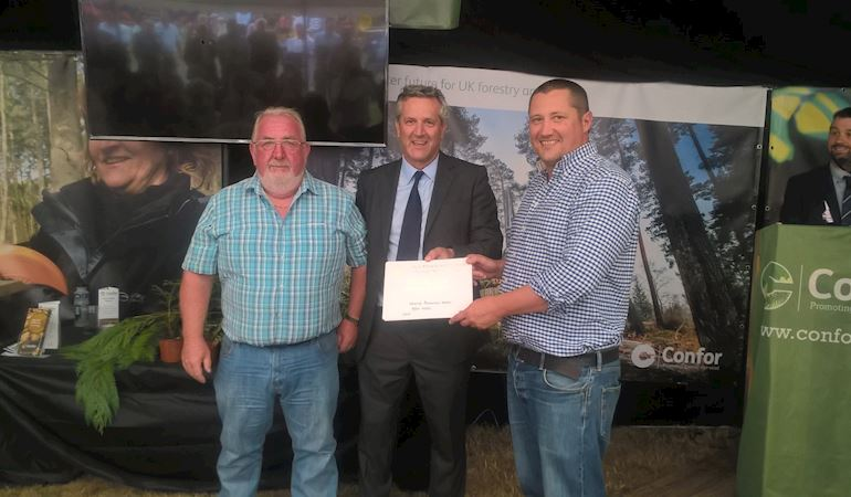 NRW being presented with a Gold award