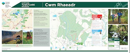 Cwm Rhaeadr walking trails panel