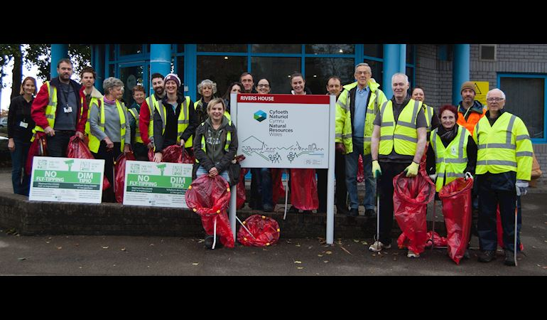 Natural Resources Wales / Community action clears waste from Gwent