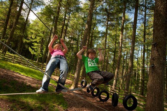 Children in play area Garwnant
