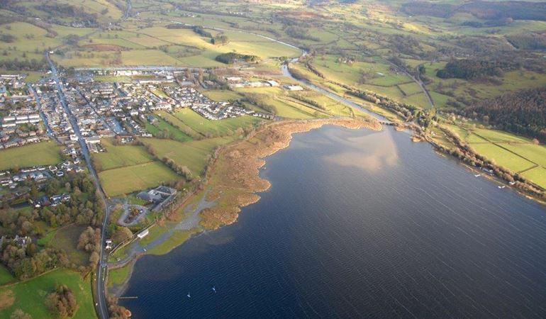 Aerial view of  Llyn Tegid