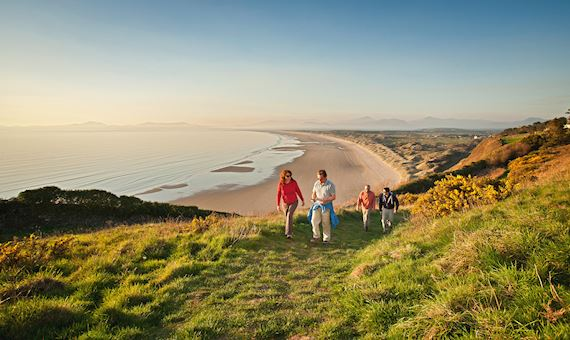People on Wales Coast Path