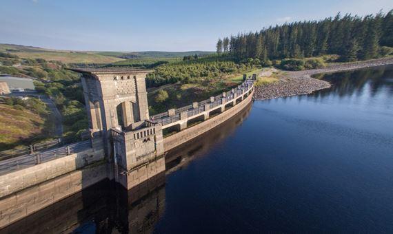 A reservoir dam