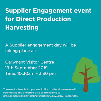 Poster with details of the supplier engagement event