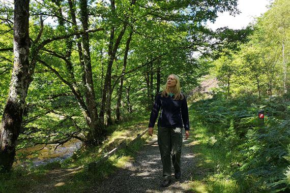 woman on Pont Llogel Trail