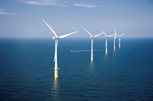 North Hoyle windfarm near Prestatyn