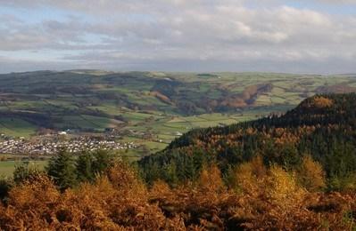 Conwy Valley mixed habitats Wales