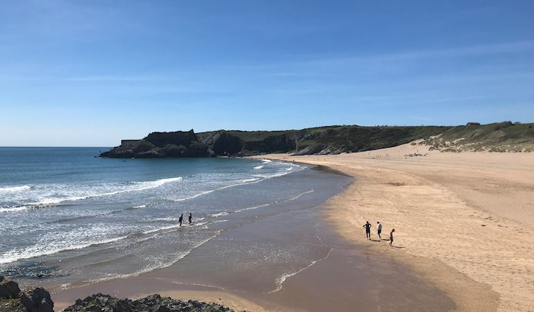 View of beach at Broad Haven South