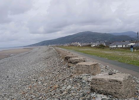 Fairbourne sea front